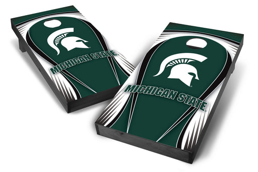 Michigan State Spartans 2x4 Cornhole Board Set Onyx Stained - Drop