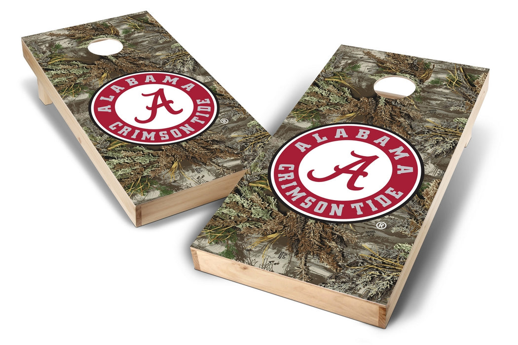 Alabama Crimson Tide 2x4 Cornhole Board Set - Realtree Max-1 Camo