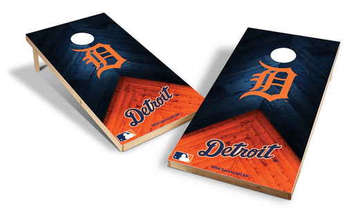 Detroit Tigers 2x4 Cornhole Board Set - Weathered