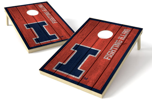 Illinois Fightin Illini 2x3 Cornhole Board Set - Vintage