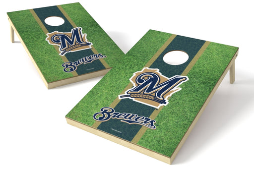 Milwaukee Brewers 2x3 Cornhole Board Set - Field