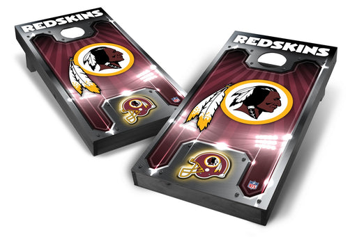 Washington Redskins 2x4 Cornhole Board Set Onyx Stained - Plate