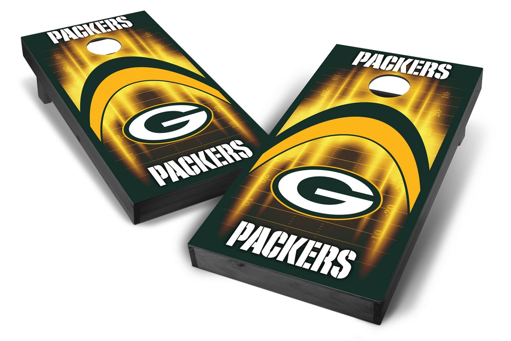 Green Bay Packers 2x4 Cornhole Board Set Onyx Stained - Arch