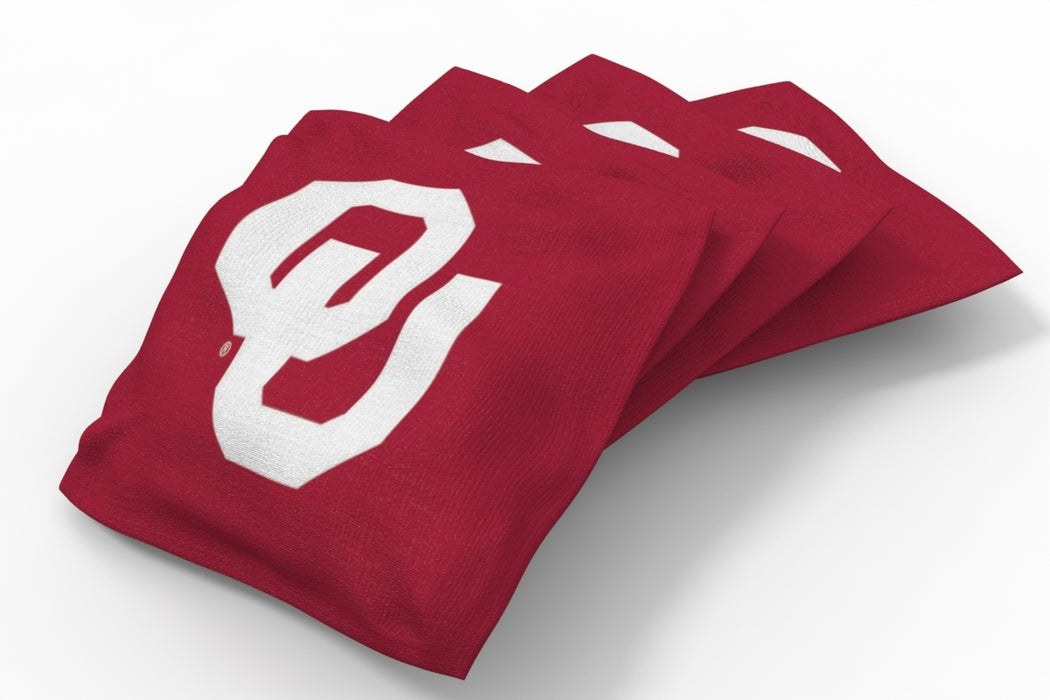 Oklahoma Sooners 2x4 Cornhole Board Set Onyx Stained - Logo