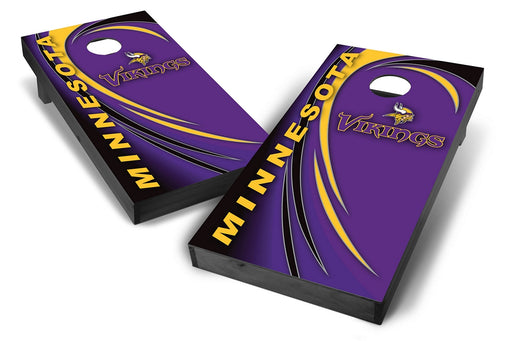 Minnesota Vikings 2x4 Cornhole Board Set Onyx Stained - Spiral