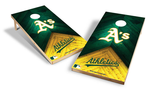 Oakland Athletics 2x4 Cornhole Board Set - Weathered