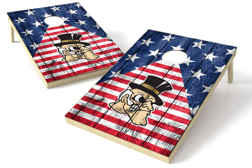 Wake Forest Demon Deacons 2x3 Cornhole Board Set - American Flag