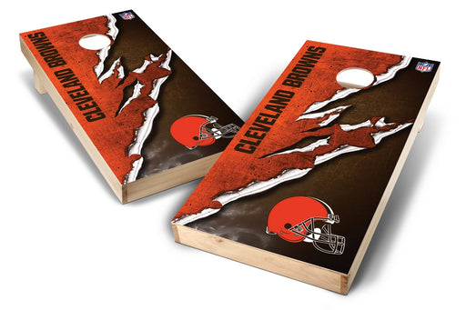 Cleveland Browns 2x4 Cornhole Board Set - Ripped