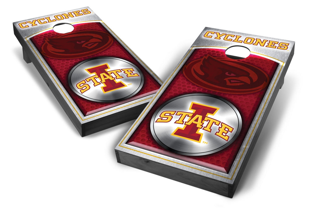 Iowa State Cyclones 2x4 Cornhole Board Set Onyx Stained - Medallion