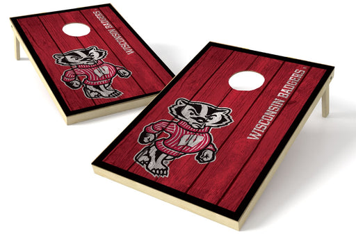 Wisconsin Badgers 2x3 Cornhole Board Set - Vintage