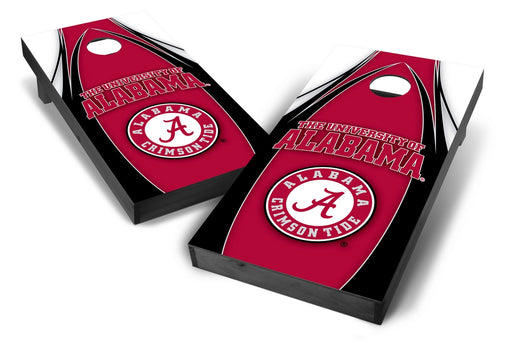 Alabama Crimson Tide 2x4 Cornhole Board Set Onyx Stained - Edge