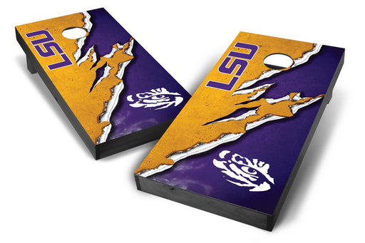 LSU Tigers 2x4 Cornhole Board Set Onyx Stained -  Ripped