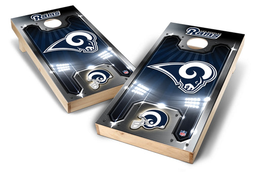 Los Angeles Rams 2x4 Cornhole Board Set - Plate