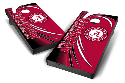 Alabama Crimson Tide 2x4 Cornhole Board Set Onyx Stained - Spiral