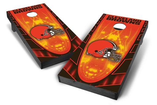 Cleveland Browns 2x4 Cornhole Board Set Onyx Stained - Hot