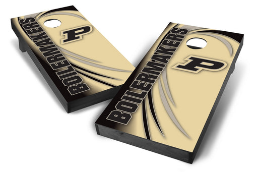 Purdue Boilermakers 2x4 Cornhole Board Set Onyx Stained - Spiral