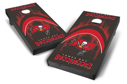 Tampa Bay Buccaneers 2x4 Cornhole Board Set Onyx Stained - Arch