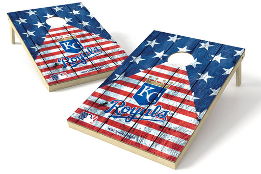 Kansas City Royals 2x3 Cornhole Board Set - American Flag