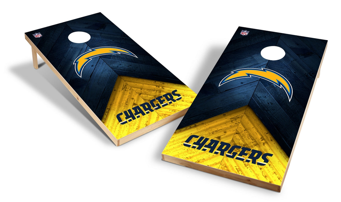 Los Angeles Chargers 2x4 Cornhole Board Set - Weathered