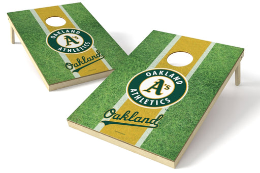 Oakland Athletics 2x3 Cornhole Board Set - Field