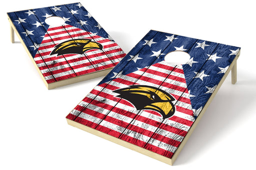 Southern Mississippi 2x3 Cornhole Board Set - American Flag