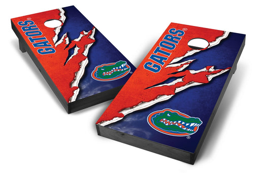 Florida Gators 2x4 Cornhole Board Set Onyx Stained -  Ripped