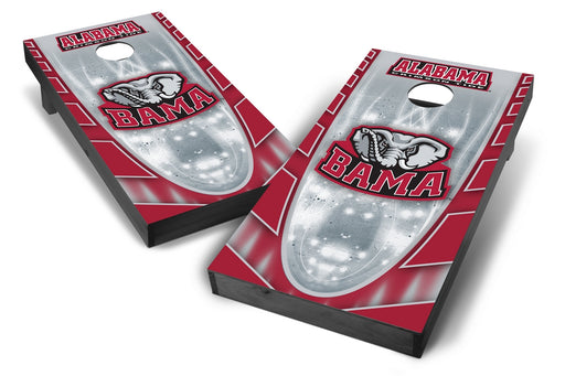 Alabama Crimson Tide 2x4 Cornhole Board Set Onyx Stained - Hot