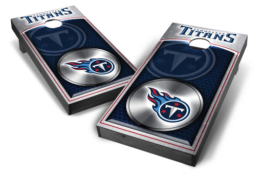 Tennessee Titans 2x4 Cornhole Board Set Onyx Stained - Medallion