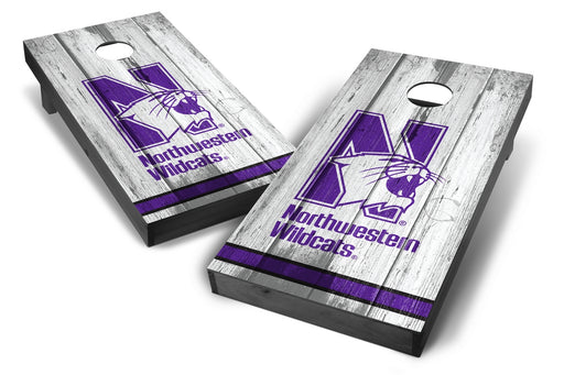 Northwestern Wildcats 2x4 Cornhole Board Set Onyx Stained - Vintage
