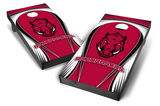 Arkansas Razorbacks 2x4 Cornhole Board Set Onyx Stained - Drop