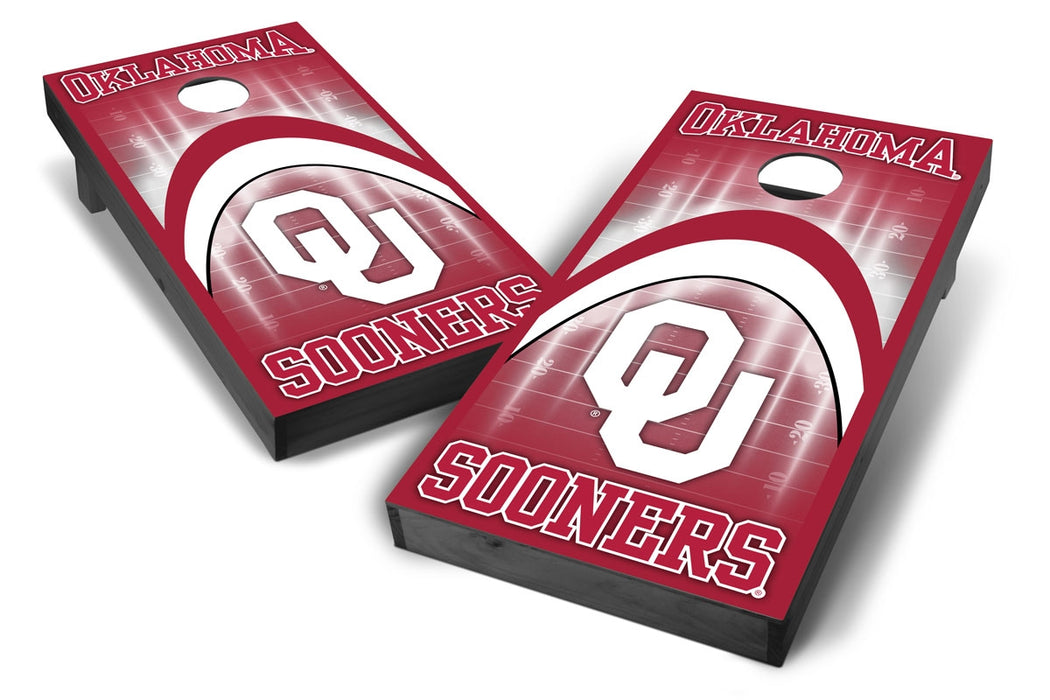 Oklahoma Sooners 2x4 Cornhole Board Set Onyx Stained - ArCH
