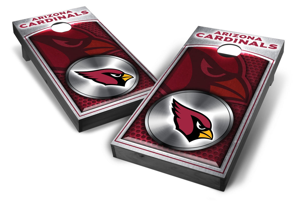 Arizona Cardinals 2x4 Cornhole Board Set Onyx Stained - Medallion