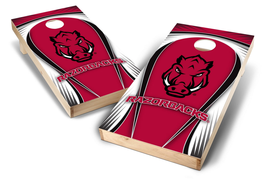 Arkansas Razorbacks  2x4 Cornhole Board Set - Drop
