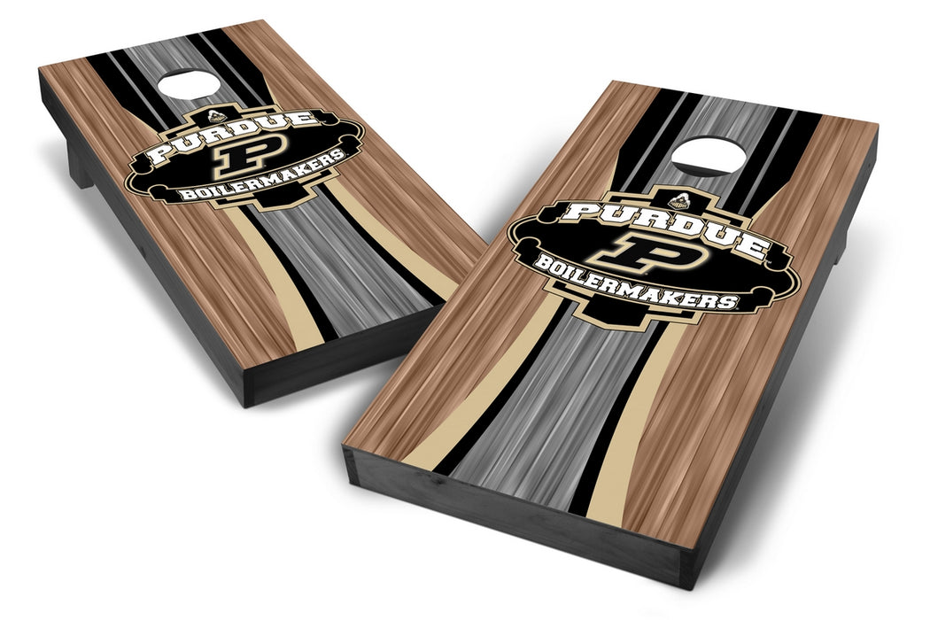 Purdue Boilermakers 2x4 Cornhole Board Set Onyx Stained - Wood