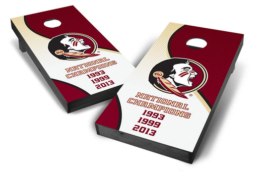 Florida State Seminoles 2x4 Cornhole Board Set Onyx Stained - Champions