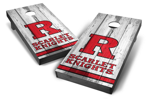 Rutgers Scarlet Knights 2x4 Cornhole Board Set Onyx Stained - Vintage