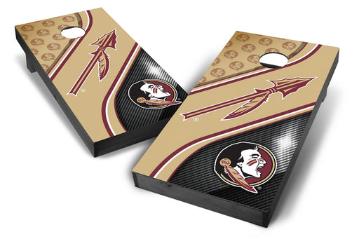 Florida State Seminoles 2x4 Cornhole Board Set Onyx Stained - Swirl