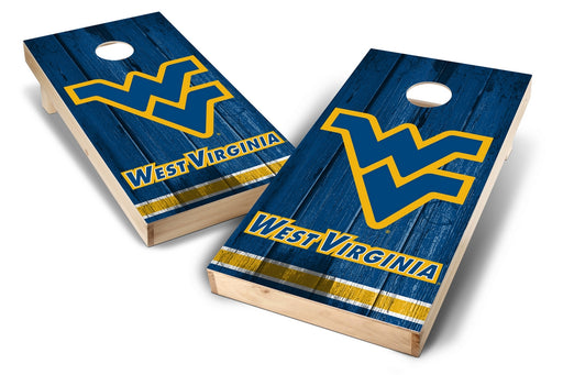 WVU Mountaineers 2x4 Cornhole Board Set - Vintage
