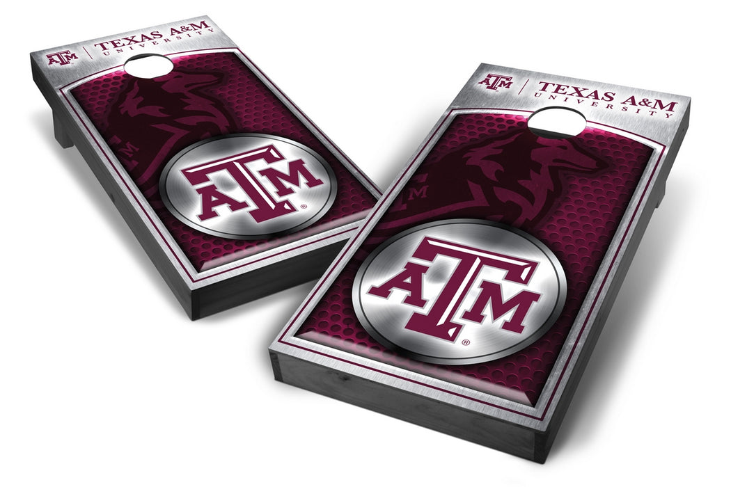 Texas A&M Aggies 2x4 Cornhole Board Set Onyx Stained - Medallion