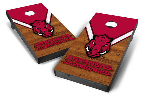 Arkansas Razorbacks 2x4 Cornhole Board Set Onyx Stained - Uniform