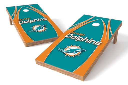 Miami Dolphins 2x4 Cornhole Board Set - Edge