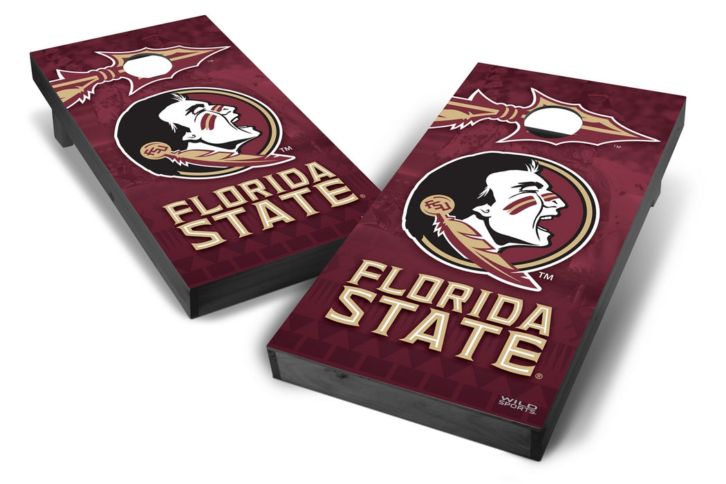 Florida State Seminoles 2x4 Cornhole Board Set Onyx Stained - Wild