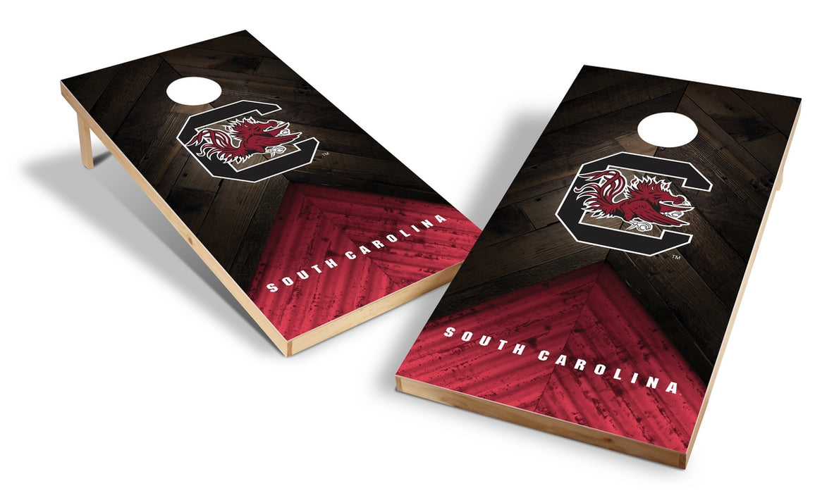 South Carolina Gamecocks 2x4 Cornhole Board Set - Weathered