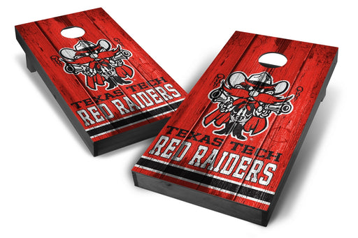 Texas Tech Red Raiders 2x4 Cornhole Board Set Onyx Stained - Vintage
