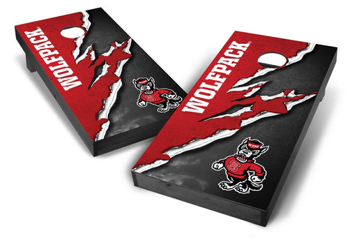 NC State Wolfpack 2x4 Cornhole Board Set Onyx Stained -  Ripped