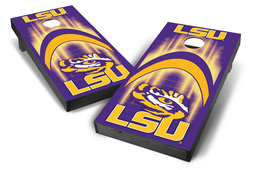 LSU Tigers 2x4 Cornhole Board Set Onyx Stained - Arch