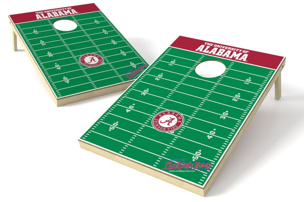Alabama Crimson Tide 2x3 Cornhole Board Set - Field