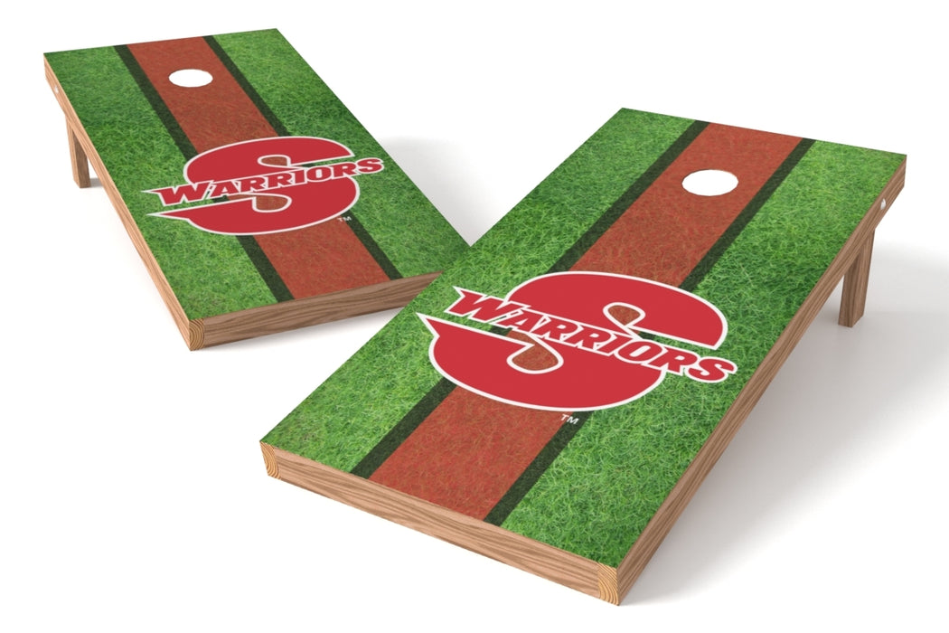 California State U Stanislaus 2x4 Cornhole Board Set - Field