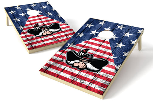 College UNLV Rebels 2x3 Cornhole Board Set - American Flag
