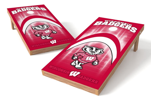 Wisconsin Badgers 2x4 Cornhole Board Set - Arch